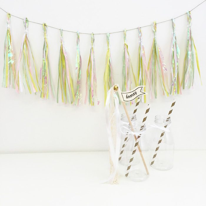 pastel party tassels