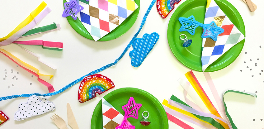 bold bright party festival themed products