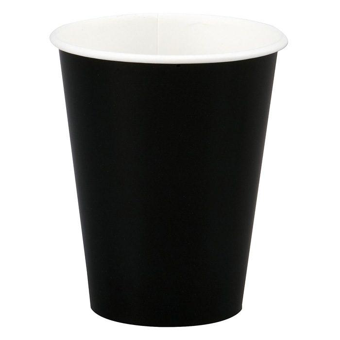 black paper cup