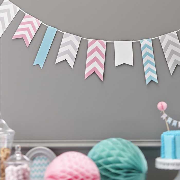 chevron bunting decorations