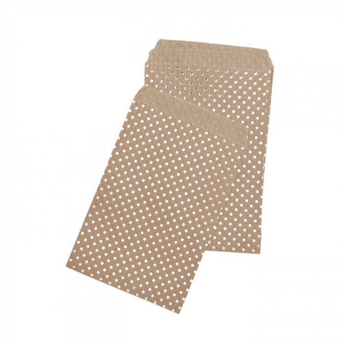 gold dot kraft bags