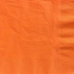 orange paper napkins