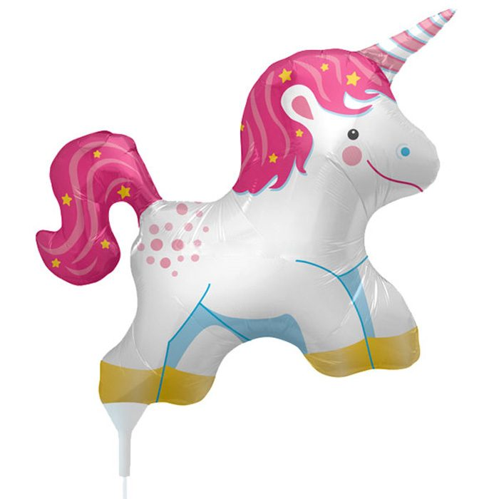 Small unicorn foil balloon