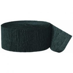 Crepe paper party streamer black