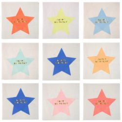 Jazzy Star Birthday Napkins in all colours