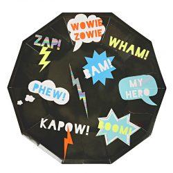 Superhero paper plates