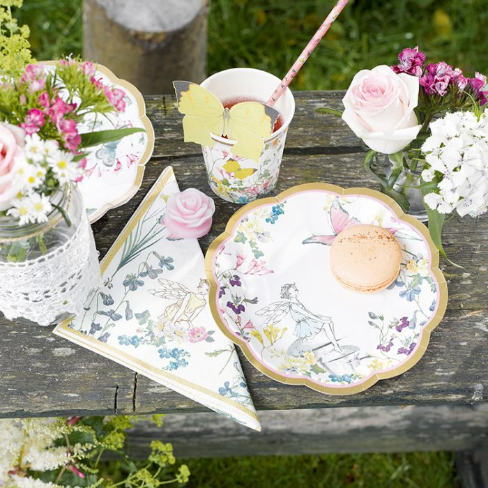 Truly Fairy Plate, garden table spread
