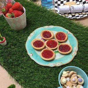 Plate of jam tarts