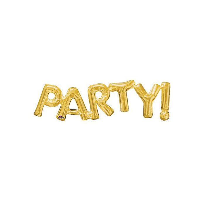 Gold Party Balloon
