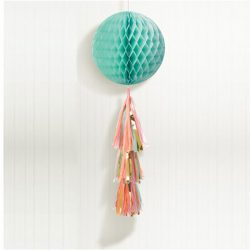 Pastel honeycomb globe with tassel