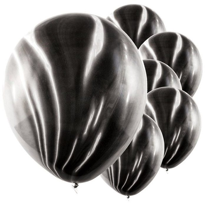 Black marble balloons