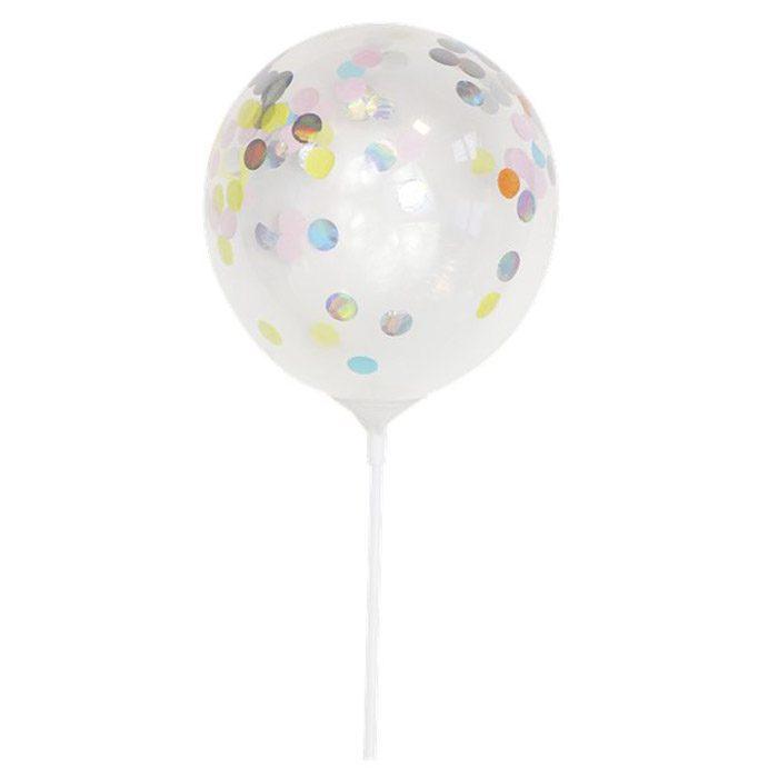 Mini confetti balloon cake topper