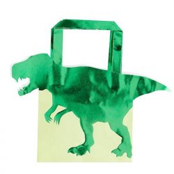 Foiled dinosaur party bags