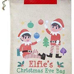 Elf christmas eve bag