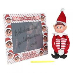 elf with message board