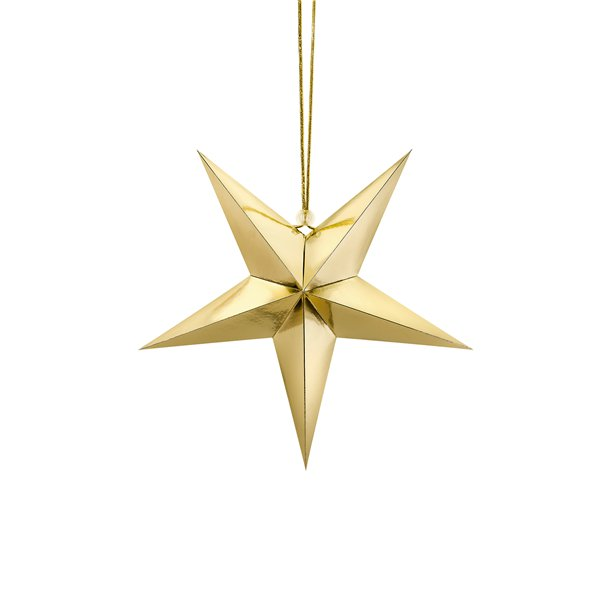 gold hanging star