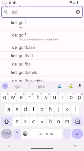 Screenshot of De Het app for Android