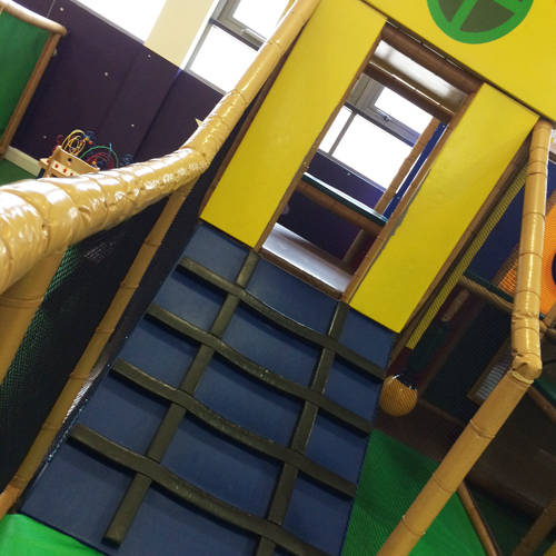 Toddlers Indoor Climbing & Slide in George's Spaceship Indoor Playzone at Peppa Pig World