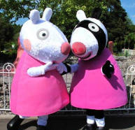 Zoe Zebra and Suzy Sheep