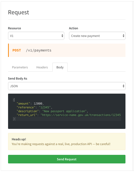 Pay api explorer createpay