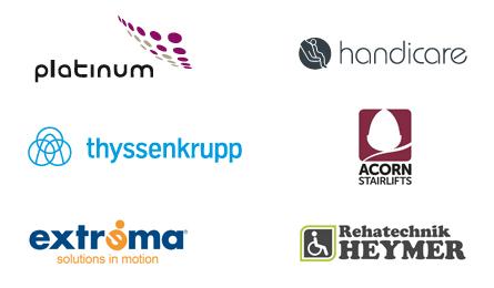 Treppenlift Fabrikanten Marken Logos