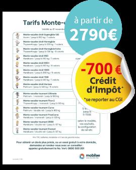 Banner Me Tarifs Prix Monte Escalier