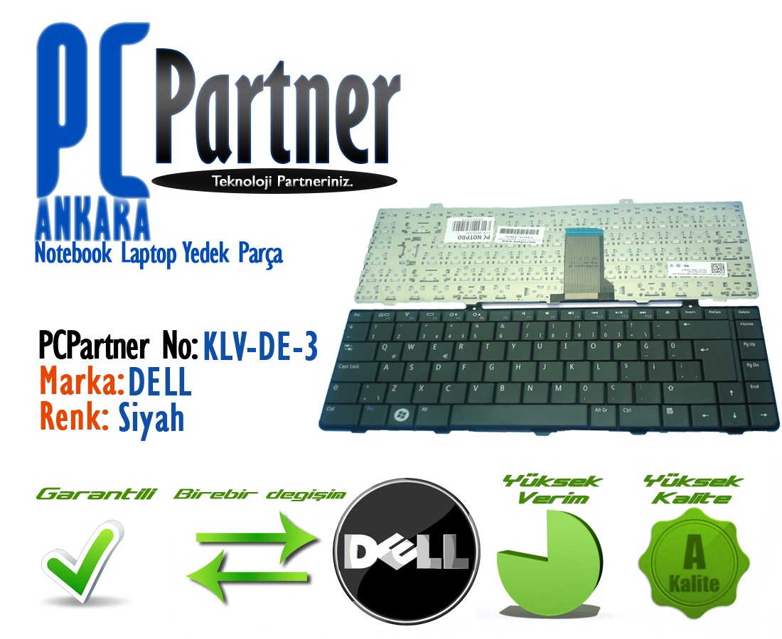 Dell Inspiron 1440 Pp42l Nsk Dk001 Pk1308bza00 0c279n C279n 9j Keyboard Series 9jn2f82 Klavye Tu Takm