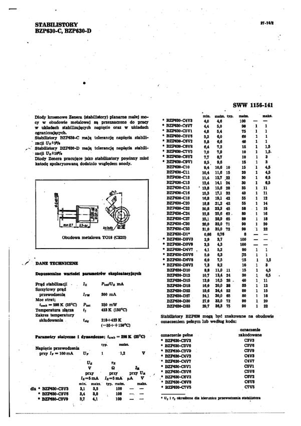 c18 dioda zenera 250mw 24v to