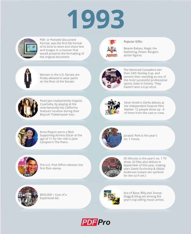 PDF history infographic
