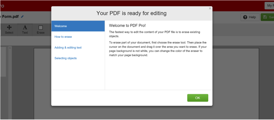 online PDF editor instructions