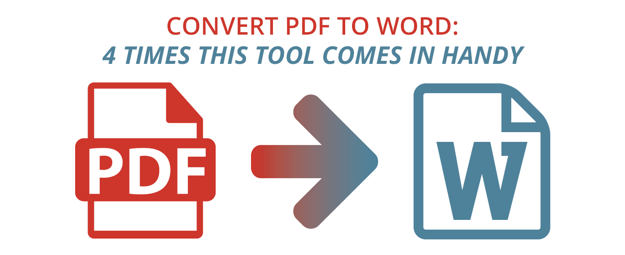 Convert PDF to Word tool