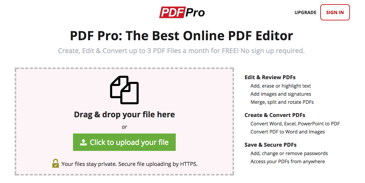 sign documents online free with PDF Pro