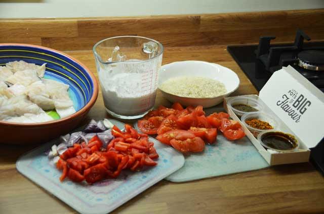 Moqueca de Peixe ingredients