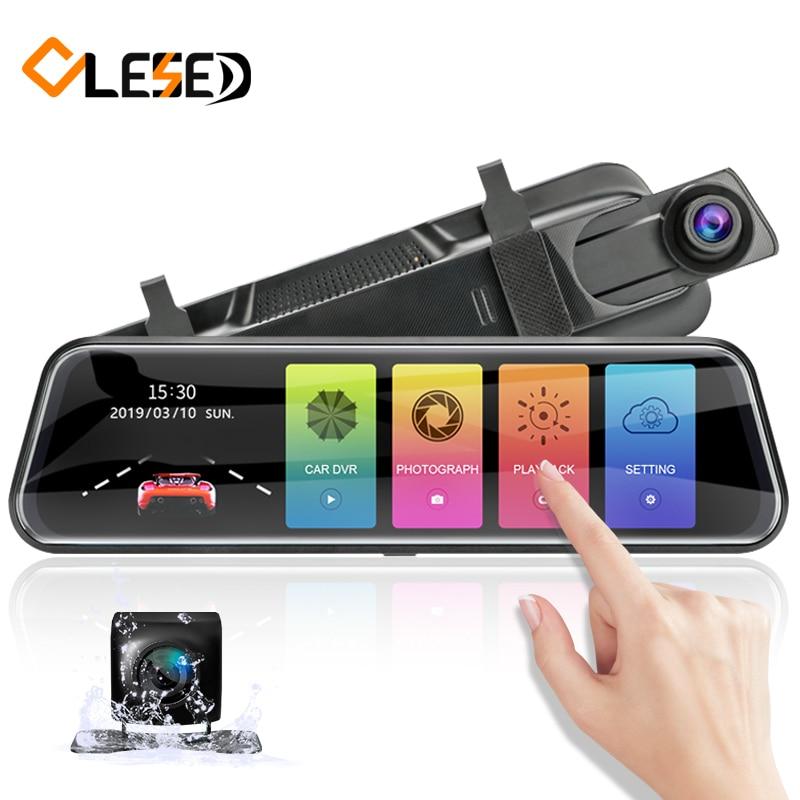 OLESED Automobilinis veidrodis su registratoriumi ir galinio vaizdo kamera