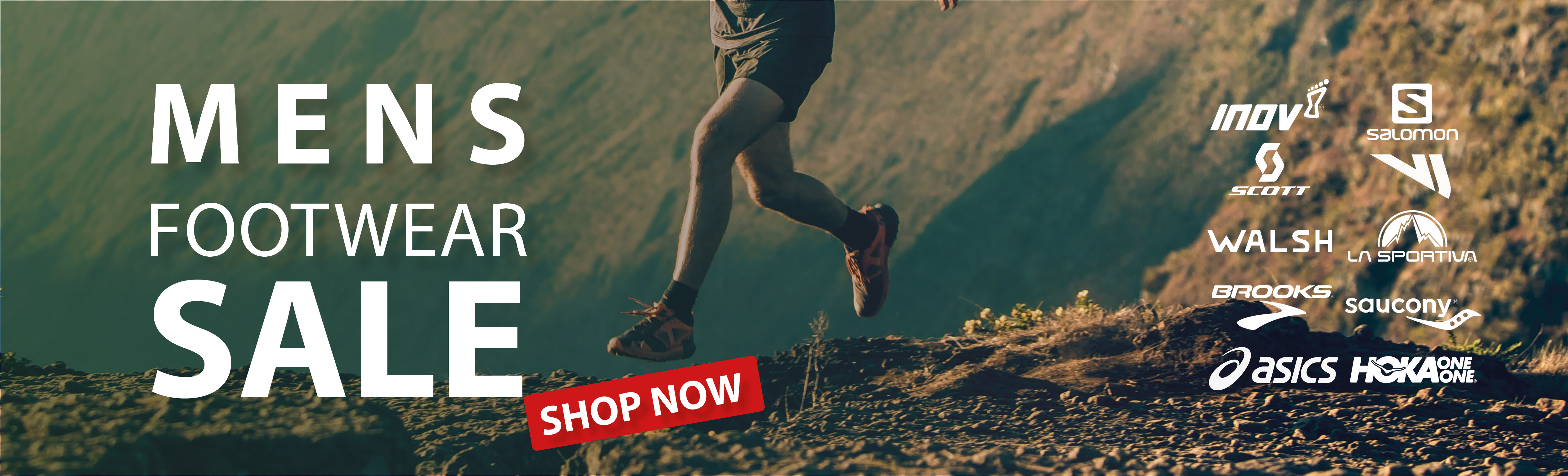 Men's running footwear up to 50% off most stock