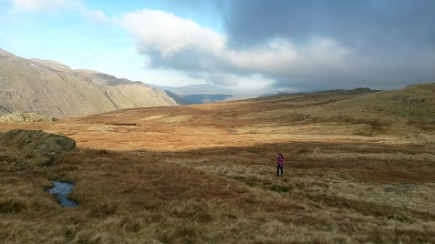 Open fell, wet
