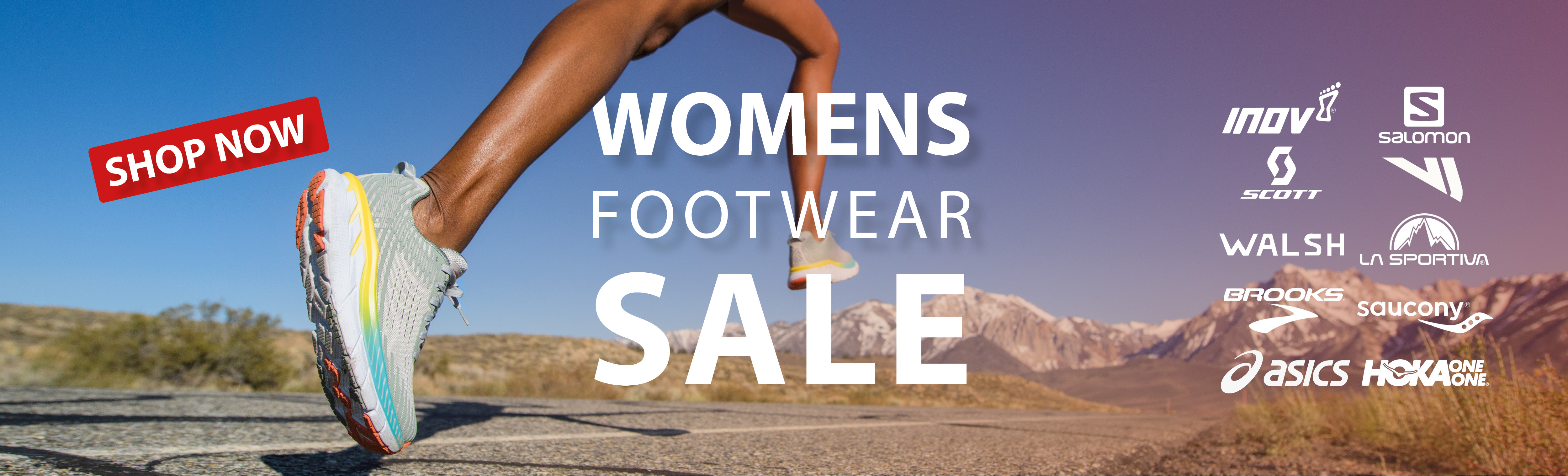 Women's running footwear up to 50% off most stock
