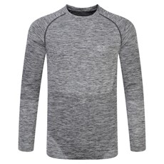 Ron Hill Men's Infinity Space Dye LS | Grey Marl