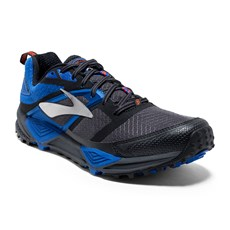 Brooks Men's Cascadia 12 | Anthracite / Electric Blue