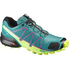 Salomon Women's Speedcross 4 | Deep Peacock Blue / Lime Punch