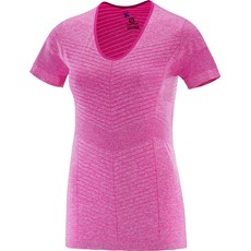 Salomon Women's Elevate Seamless Tee | Rose Violet
