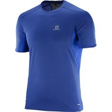 Salomon Men's Trail Runner Tee | Surf the Web / Dress Blue