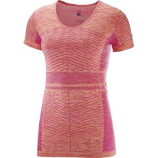 Salomon Women's Elevate Move On Tee | Pink Yarrow / Bird of Paradise