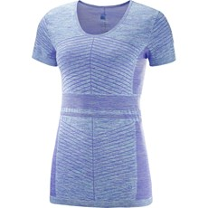 Salomon Women's Elevate Move On Tee | Purple Opulence / Blue Curacao