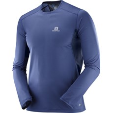 Salomon Men's Trail Runner LS Tee | Medieval Blue / Night Sky