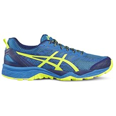 Asics Men's Fuji Trabuco 5 | Thunder Blue / Safety Yellow