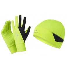 Ron Hill Unisex Beanie & Glove Set | Fluo Yellow / Black