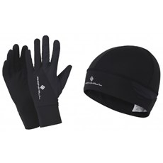 Ron Hill Unisex Beanie & Glove Set | Black