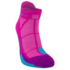 Hilly Women's Cushion Socklet | Fluo Pink / Blue