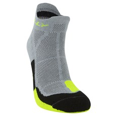 Hilly Unisex Cushion Socklet | Grey / Fluo Yellow
